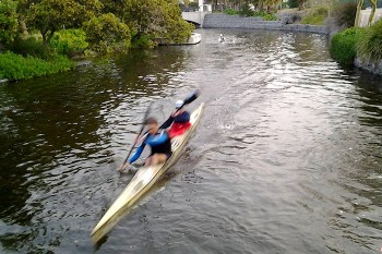 Century City Canoe Club offers paddlers 7km of man-made navigable canals.