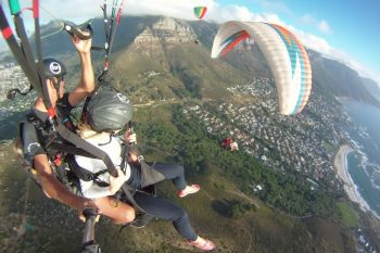 Paragliding showcases the most amazing aerial views of the city.