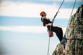 Abseiling off Table Mountain is the ultimare rush.